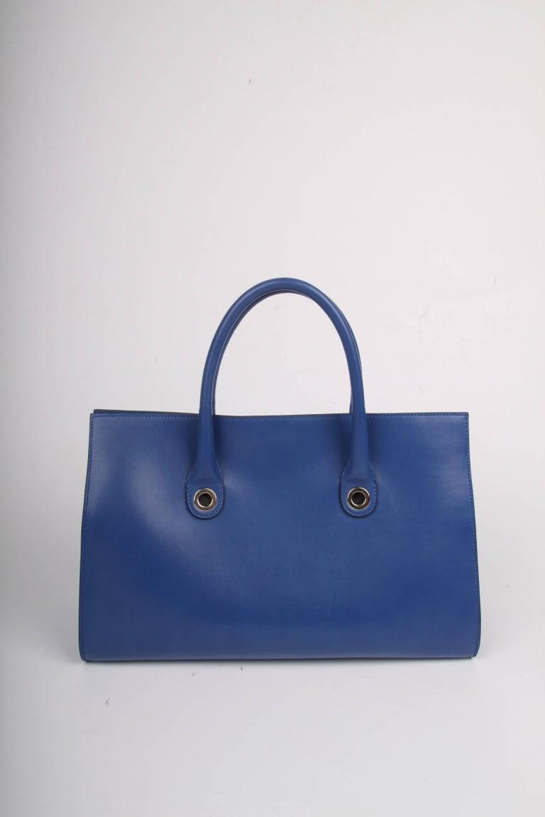 Blue Jimmy Choo Riley Tote Bag For