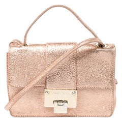 Jimmy Choo Rose Gold Leather Rebel Crossbody Bag