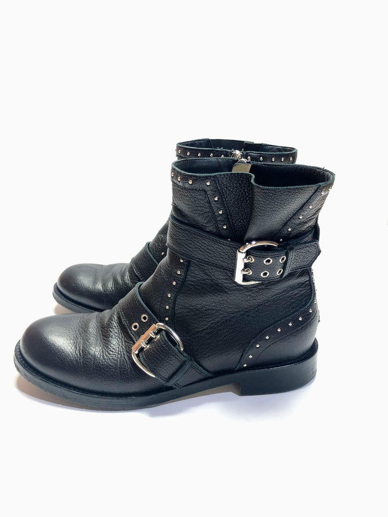Women's or Men's Jimmy Choo Silver Studded Ankle Boots For Sale