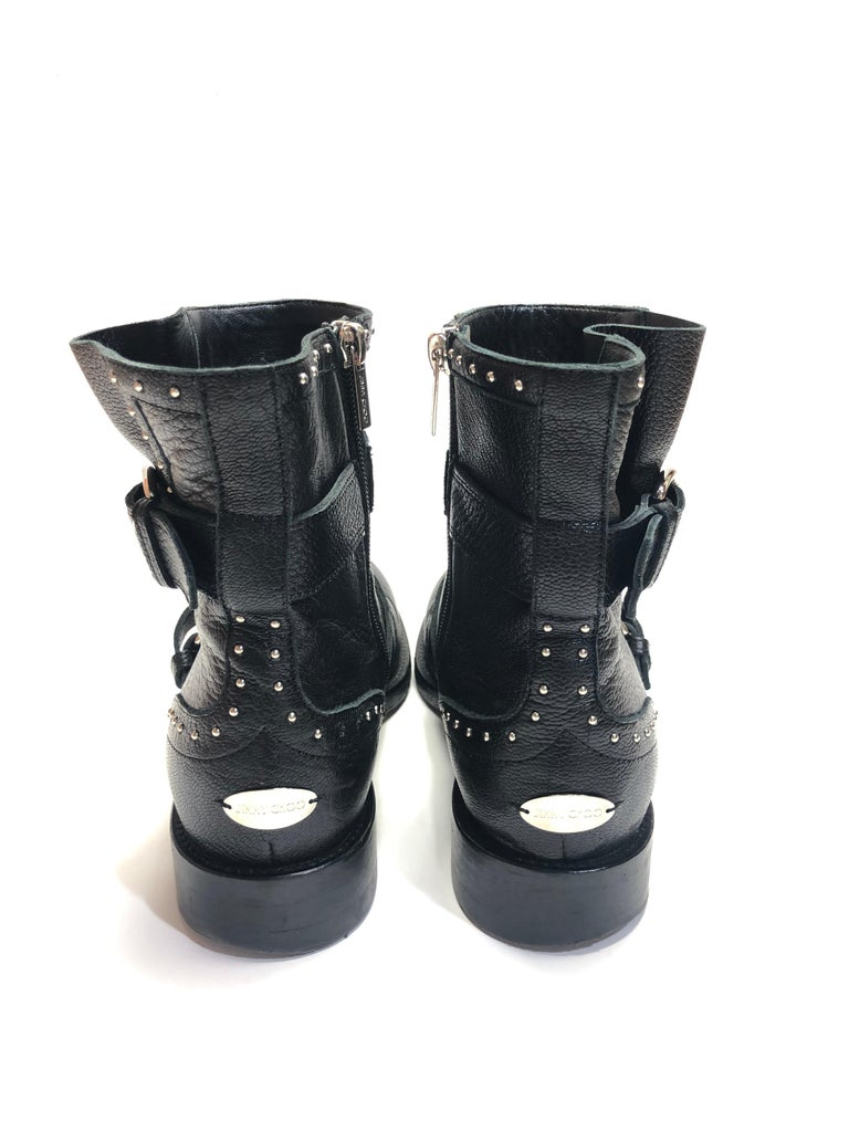 Jimmy Choo Silver Studded Ankle Boots For Sale 1