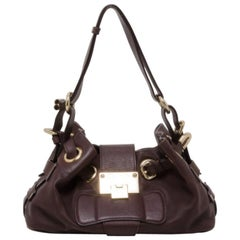 Jimmy Choo Small Brown Leather Ramona