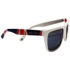 2000s Jimmy Choo Union Jack Wayfarer Sunglasses