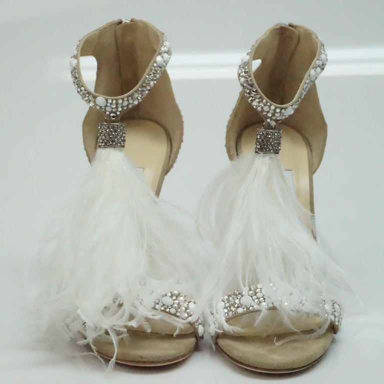 Jimmy Choo Viola White/Crystal Mix Wedding Sandals