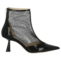 Jimmy Choo Woman Ankle boots Black Leather IT 37
