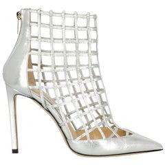 Jimmy Choo Woman Ankle boots Silver EU 37
