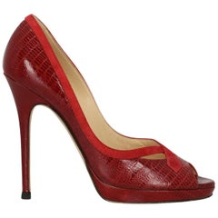 Jimmy Choo Woman Pumps Red Leather IT 40