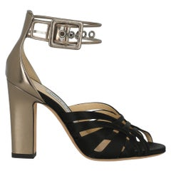Jimmy Choo Woman Sandals Black Fabric IT 36
