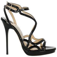 Jimmy Choo Woman Sandals Black Leather IT 35