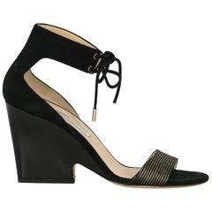 Jimmy Choo Woman Sandals Black Leather IT 40