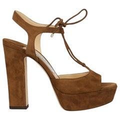 Jimmy Choo Woman Sandals Brown EU 36