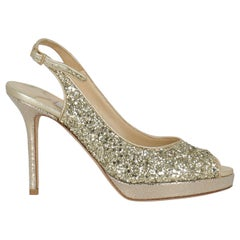 Jimmy Choo Woman Sandals Gold Leather IT 36.5
