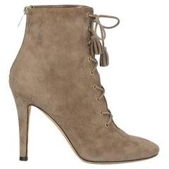 Jimmy Choo Women  Ankle boots Beige Leather IT 37