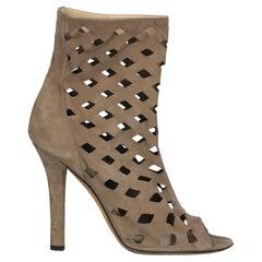 Jimmy Choo Women  Ankle boots Beige Leather IT 39.5