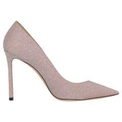 Jimmy Choo Women's Pumps Pink Fabric Size IT 38.5