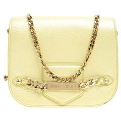 Jimmy Choo Yellow Leather Shadow Chain Crossbody Bag