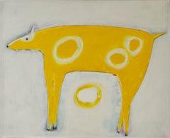 Original acrylic painting by Jimmy Wright  UNTITLED - YELLOW DOG