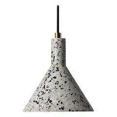 JIN Pendant Lamp, White Terrazzo