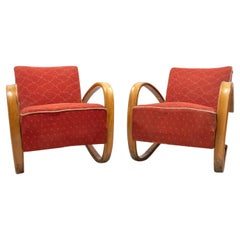 Jindrich Halabala, Pair of Lounge Bentwood Armchairs H-269, Czechoslovakia