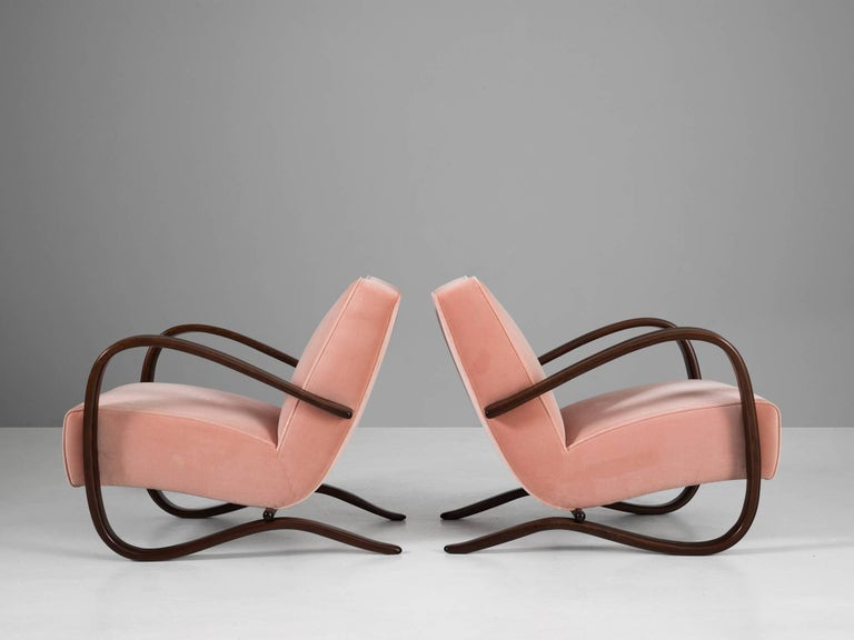Jindrich Halabala, set of armchairs, Czech Republic, 1930s. 