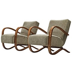 Jindrich Halabala Re-Upholstered Lounge Chairs