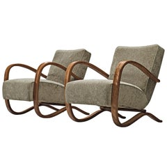 Jindrich Halabala Reupholstered Lounge Chairs
