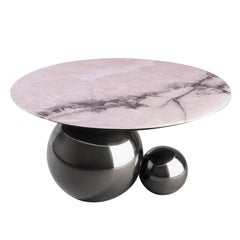 'Jinshi Pink Jade' Coffee Table by Studio MVW - Gunmetal Grey Version