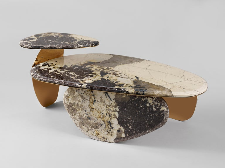 Asian 'JinYe' Coffee Table Featuring Patagonian Quartzite by Studio MVW For Sale