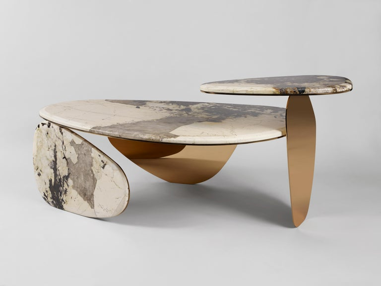 Anodized 'JinYe' Coffee Table Featuring Patagonian Quartzite by Studio MVW For Sale