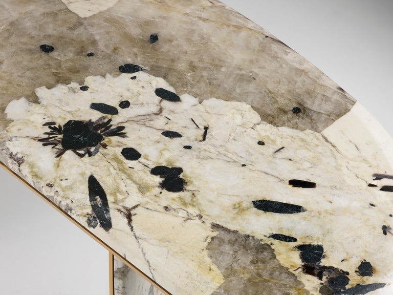 Anodized 'JinYe' Console Featuring Patagonian Quartzite by Studio MVW For Sale