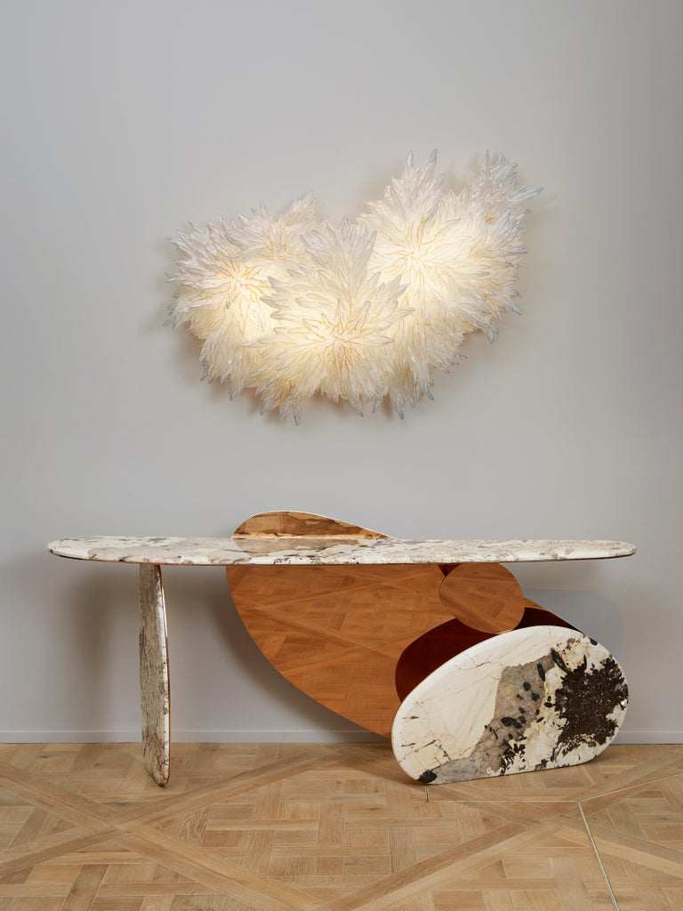 'JinYe' Console Featuring Patagonian Quartzite by Studio MVW In New Condition For Sale In Paris, FR