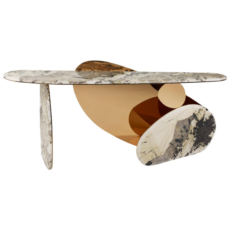 'JinYe' Console Featuring Patagonian Quartzite by Studio MVW For Sale