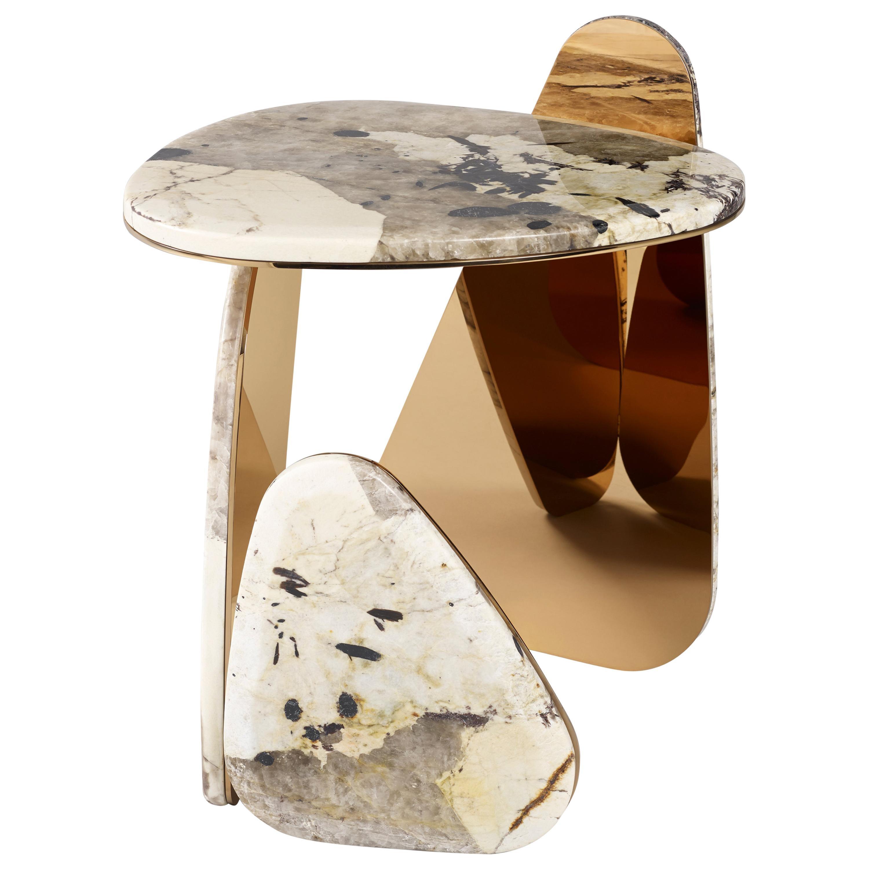 'JinYe' Side Table #1 featuring Patagonia Quartzite by Studio MVW