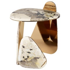 'JinYe' Side Table #1 featuring Patagonian Quartzite by Studio MVW