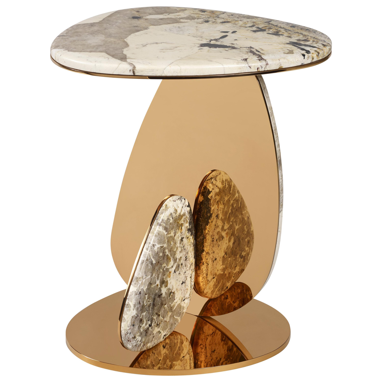 'JinYe' Side Table #2 featuring Patagonia Quartzite by Studio MVW