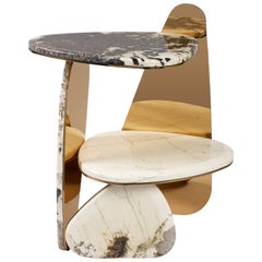'Jinye' Side Table #3 Featuring Patagonian Quartzite by Studio MVW