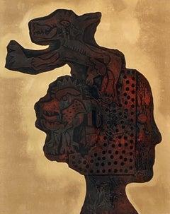 Jiri Ladocha Abstract Portrait Etching w/ Aquatint c.1972
