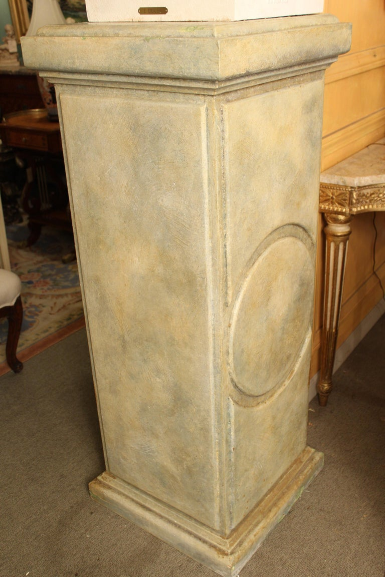 J.J. Ducel painted cast iron Bust and faux marble Pedestal For Sale 6