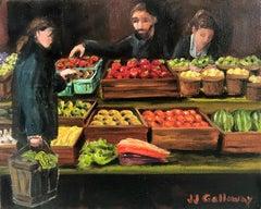 Farmers Market, Oil Painting