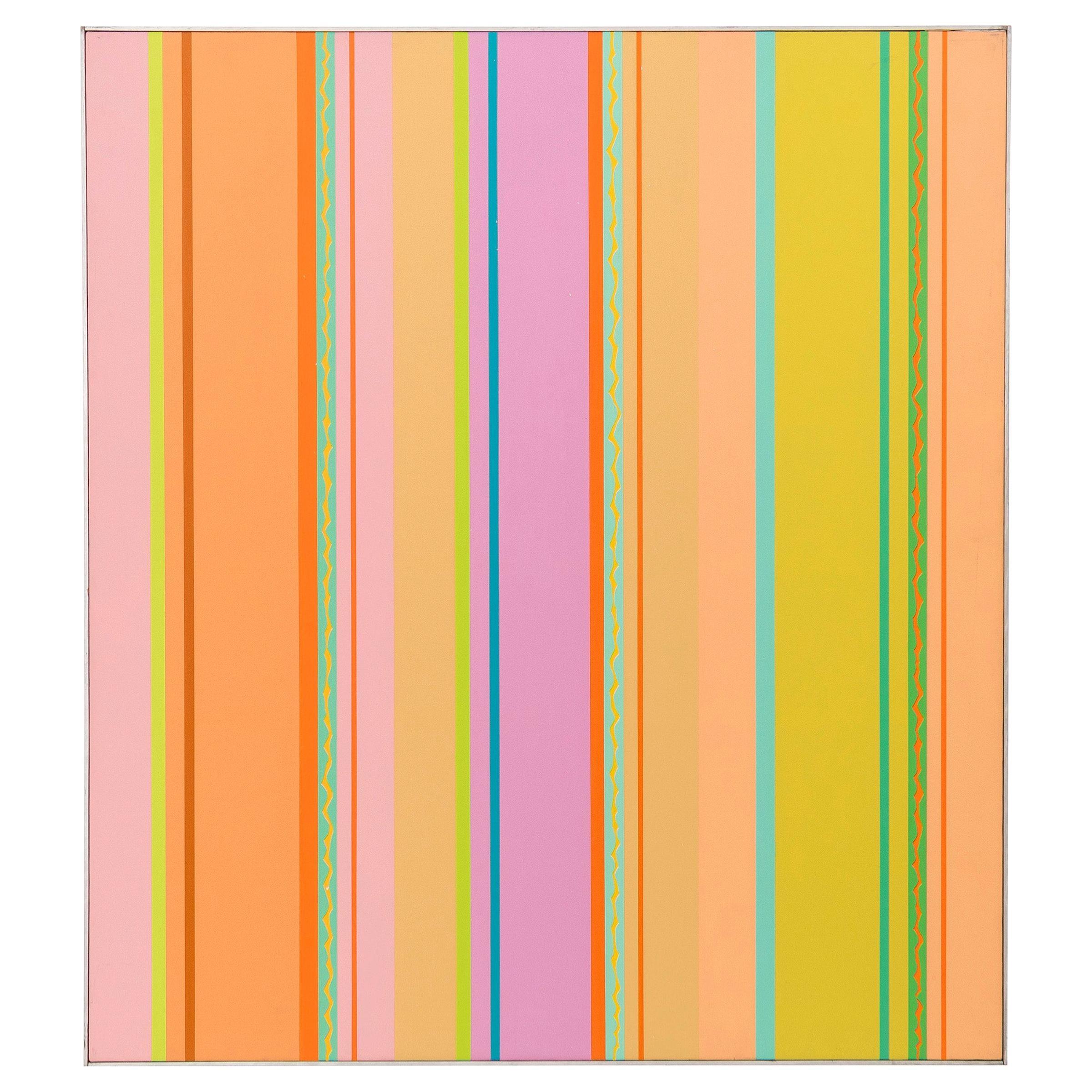 "J.J. McVicker Painting ""Hard Edge"" Painting"