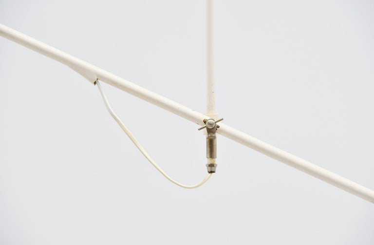 Dutch JJM Hoogervorst Anvia Counter Balance Ceiling Lamp, Holland, 1955 For Sale