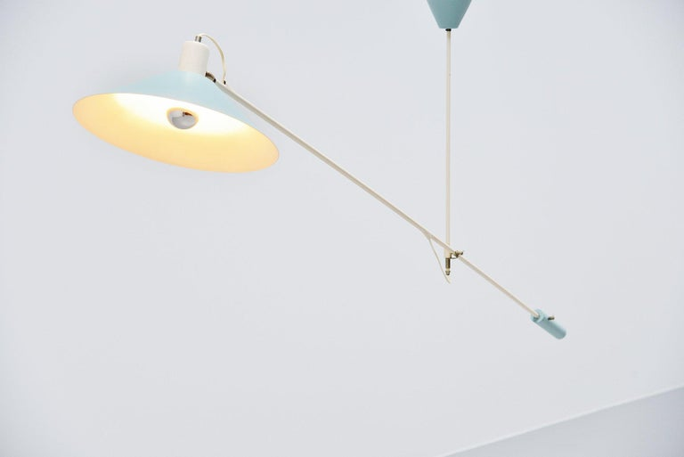 JJM Hoogervorst Anvia Counter Balance Ceiling Lamp, Holland, 1955 In Good Condition For Sale In Roosendaal, Noord Brabant