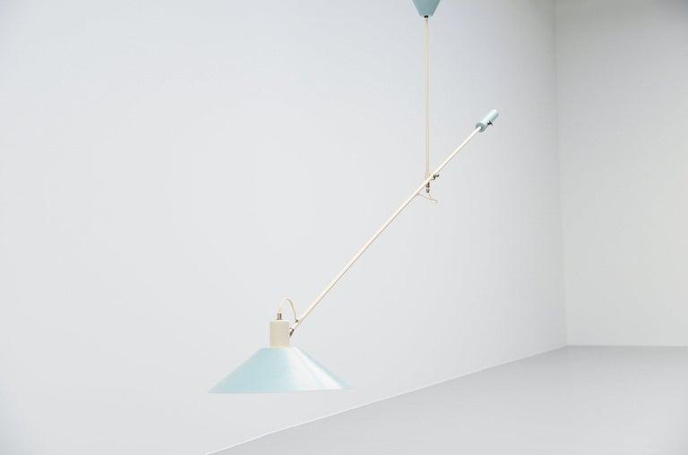 JJM Hoogervorst Anvia Counter Balance Ceiling Lamp, Holland, 1955 For Sale 1