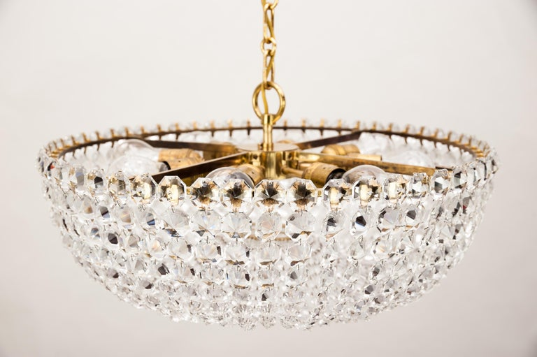 J.L Lobmeyr chandelier around 1950s ( Signed ) For Sale 3