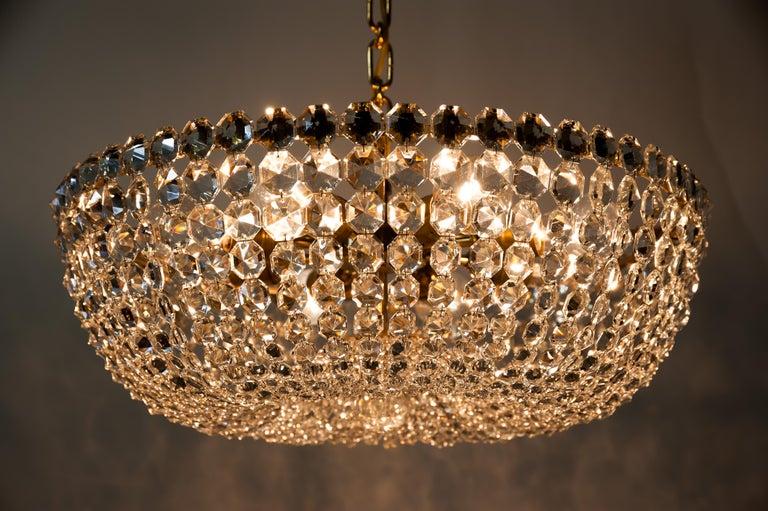 J.L Lobmeyr chandelier around 1950s ( Signed ) For Sale 4