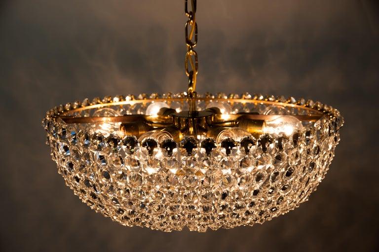 J.L Lobmeyr chandelier around 1950s ( Signed ) For Sale 5
