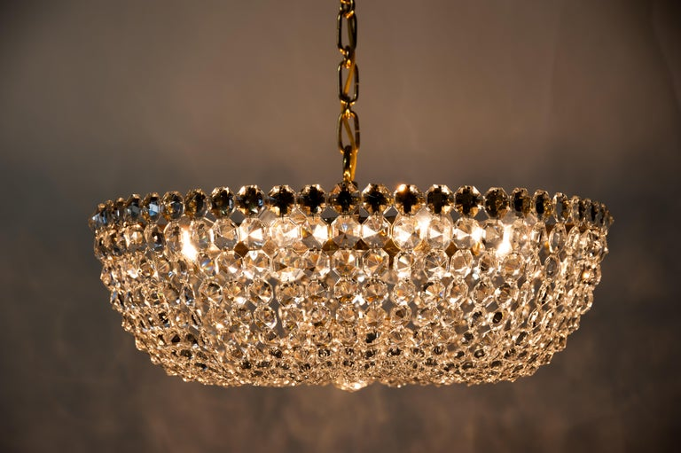 J.L Lobmeyr chandelier around 1950s ( Signed ) For Sale 6