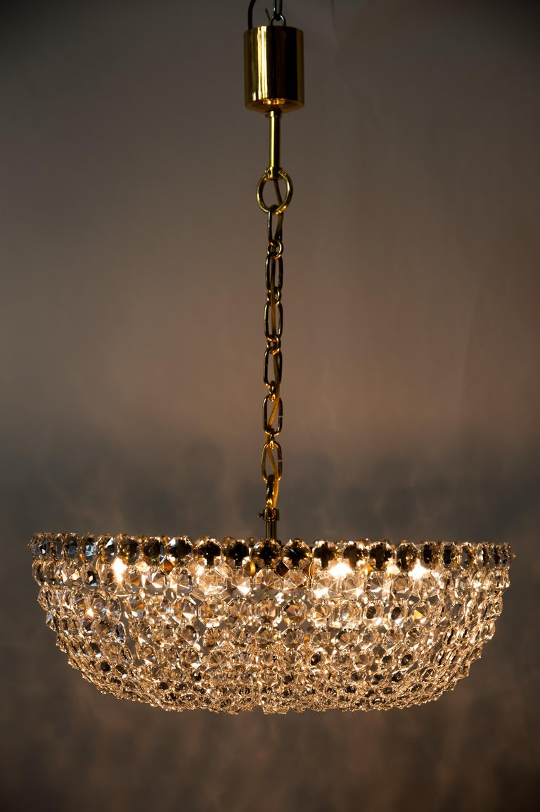 J.L Lobmeyr chandelier around 1950s ( Signed ) For Sale 7