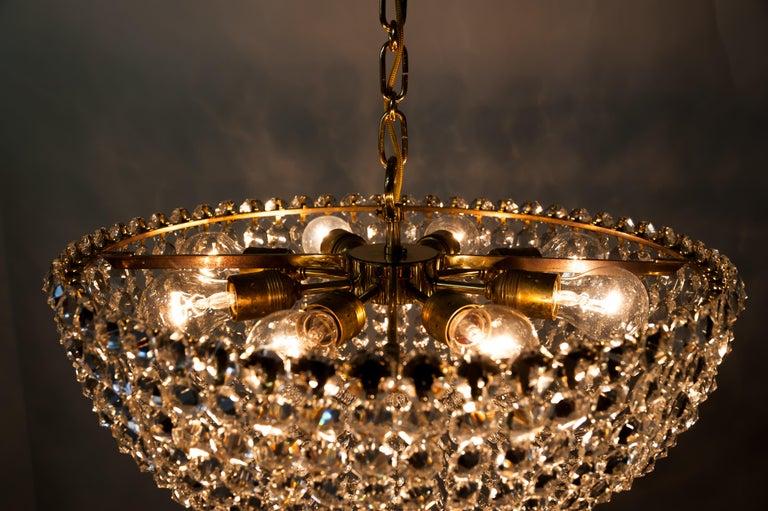 J.L Lobmeyr chandelier around 1950s ( Signed ) For Sale 8
