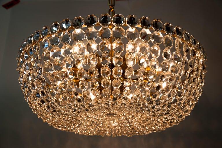 J.L Lobmeyr chandelier around 1950s ( Signed ) For Sale 9