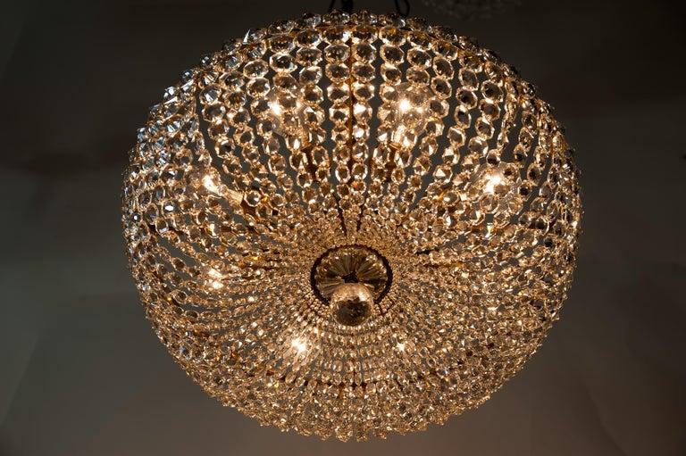 J.L Lobmeyr chandelier around 1950s ( Signed ) For Sale 11